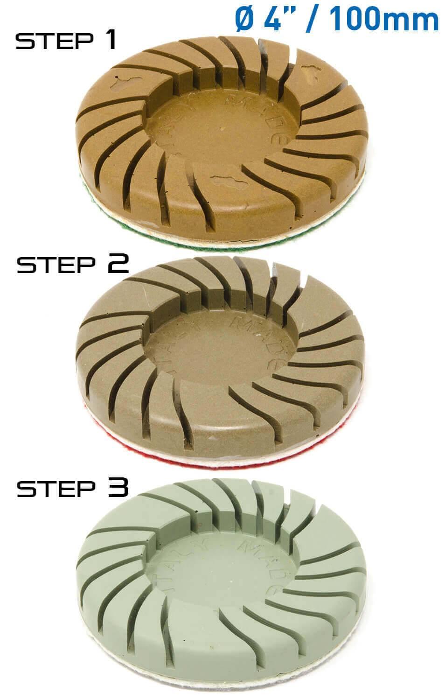 3 pasos 100